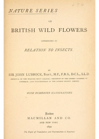 On British wild flowers considered in relation to insects