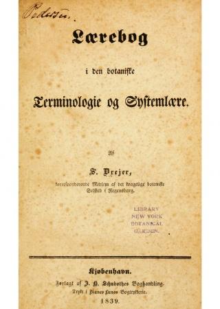Laerebog i den botaniske terminologie og systemlaere