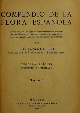Botánica descriptiva. Compendio de la flora española.