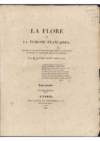 La flore et la pomone francaises