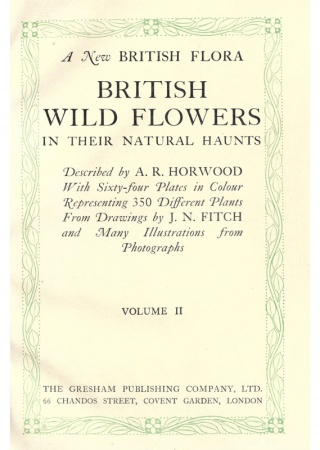 A new British flora: British wild flowers in their natural haunts