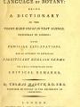 The language of botany